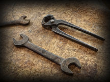 Vintage carpenter tools Royalty Free Stock Photography