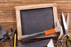 Vintage carpentry, construction hardware tools Stock Images