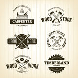 Vintage Carpentry Emblems Stock Images