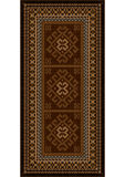 Vintage carpet with ethnic ornaments in brown shades. Luxury vintage carpet with ethnic ornaments in brown shades Stock Photography