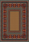 Vintage carpet with ethnic pattern. Vintage carpet with ethnic geometrical pattern on borders Royalty Free Stock Images