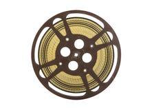 Vintage carrete de la película de cine de 16 milímetros aislado en blanco Imagen de archivo