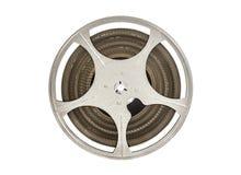 Vintage carretel de filme de um filme de 8 milímetros isolado no branco Fotografia de Stock Royalty Free