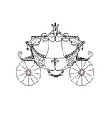 Vintage carriage - doodle icon Stock Photos