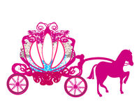 Vintage carriage - doodle icon. Illustration Stock Images