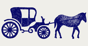 Vintage carriage and horse Stock Photos