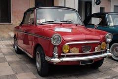 Vintage cars. Italian red vintage cars meeting Royalty Free Stock Image
