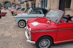 Vintage cars. Italian vintage cars meeting of Bianchina's Royalty Free Stock Photo