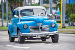 Vintage cars in Action in Cuba Stock Image