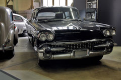 Vintage cars collection. Collection of styling vintage cars, on the first plan black Chevrolet Belair from 1958 Stock Photo