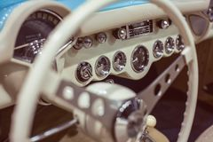 Vintage cars dashboard Royalty Free Stock Photography