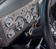 Vintage cars dashboard Stock Photography