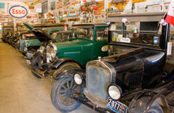 Vintage cars on display in northern canada Stock Image