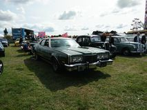 Vintage cars displayed outdoor. At Northumberland Wings & Wheels festival at Eshott Airfield north of Morpeth, England, taken on August 20, 2017 royalty free stock photos