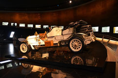 Vintage cars exhibit in the Mercedes-Benz museum in Stuttgart Stock Photos