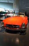 Vintage cars exhibit in the Mercedes-Benz museum in Stuttgart Stock Images