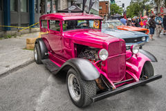 Vintage cars. Exposed in a street for the Montreal Grand Prix 2016 Stock Images