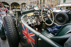 Vintage cars at Freedom Square. BASSANO DEL GRAPPA, Vicenza ITALY - June 21, 2015. Vintage cars in Freedom Square in Bassano del Grappa, VI - ITALY. The cars and Stock Images