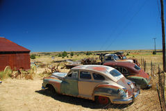 Vintage cars in ghost town Shaniko, Oregon Royalty Free Stock Photos