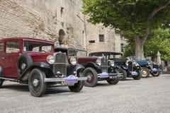 Vintage cars, Gordes. Royalty Free Stock Photography