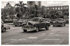 Vintage cars in Havana Royalty Free Stock Photo