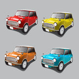 Vintage cars icons set Stock Photography
