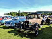 Vintage cars at the local motor club show. Royalty Free Stock Images