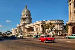 Vintage cars near the Capitol Stock Photography