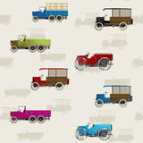 Vintage cars pattern Stock Photo