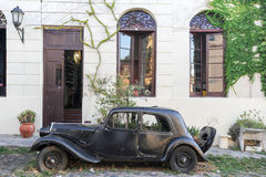 Vintage cars in the street of Colonia del Sacramento Royalty Free Stock Photos