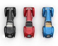 Vintage cars - top view Stock Image