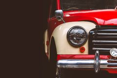 Vintage cars. On a black background royalty free stock images