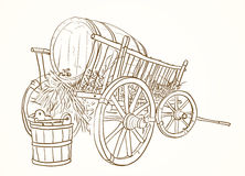 Vintage cart Royalty Free Stock Images