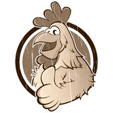 Vintage cartoon chicken Stock Photography