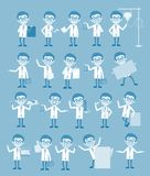 Vintage Cartoon Doctors Concepts and Gestures Vector Set Royalty Free Stock Image