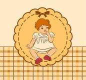 Vintage cartoon little girl. Stock Photography
