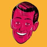Vintage cartoon man Royalty Free Stock Images