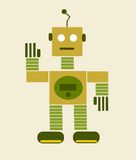 Vintage cartoon robot Royalty Free Stock Photo
