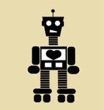 Vintage cartoon robot Stock Photos