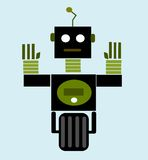 Vintage cartoon robot Royalty Free Stock Images