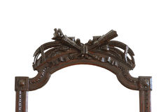 Vintage carved oak frame Stock Image