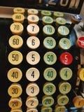 Vintage Cash Machine Keyboard Stock Images