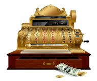 Vintage cash register vector illustration