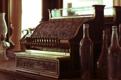 Vintage Cash Register stock photography