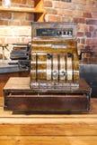 Vintage cash register. Royalty Free Stock Photo