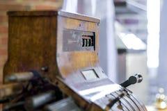Vintage cash register. Royalty Free Stock Images