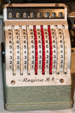 Vintage cash register charge in lire italia Royalty Free Stock Image