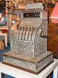 Vintage cash register charge in lire italia Stock Photo