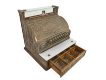 Vintage Cash Register Drawer Open Stock Photo