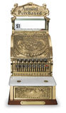 Vintage cash register front view Royalty Free Stock Images